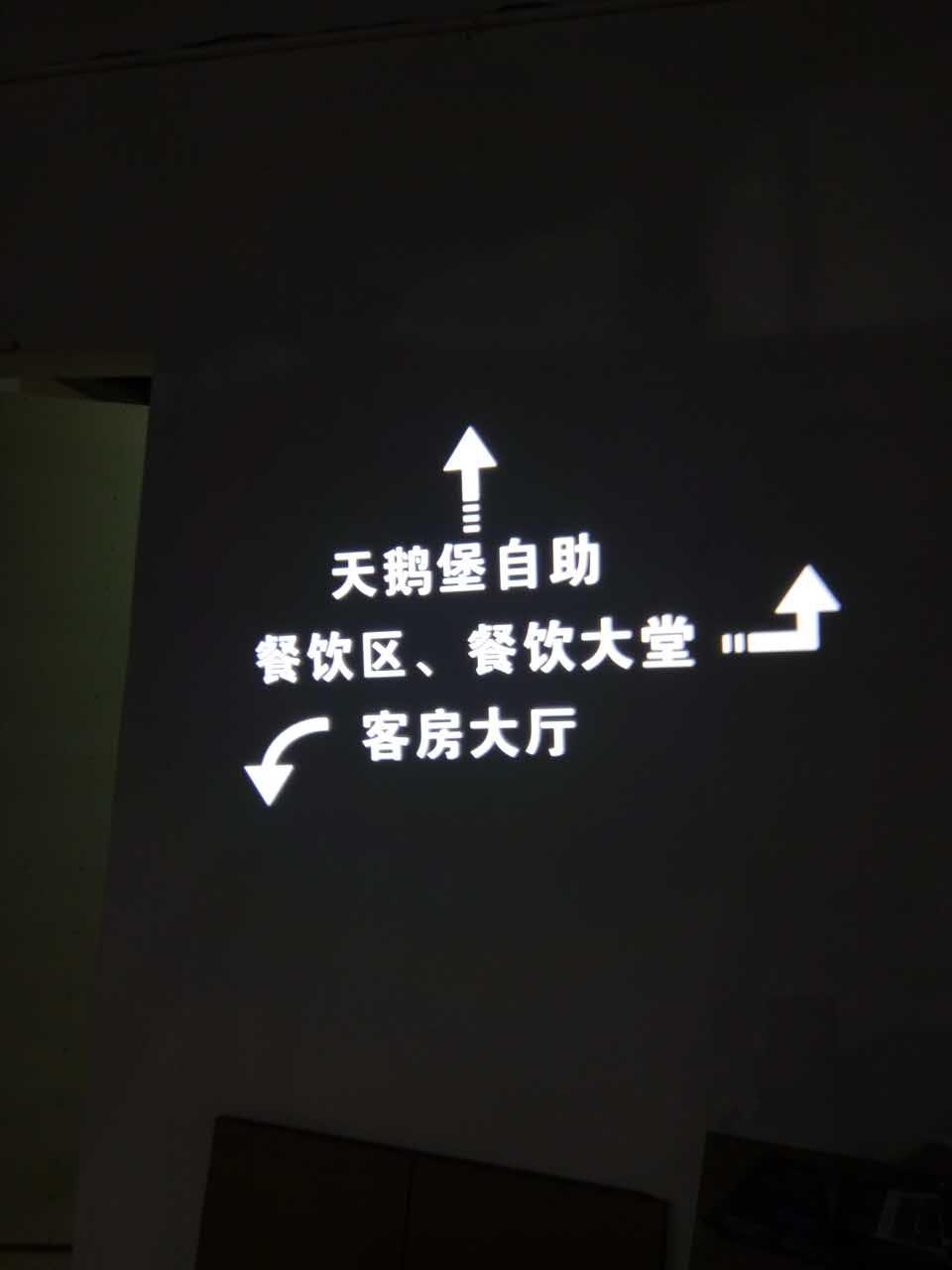 投影指示标志